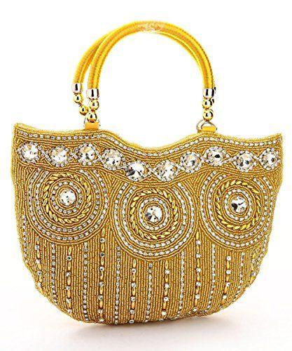 29fb0fbf5b8d LadyBugBag Golden Silk Designer Handbag - LBB10202