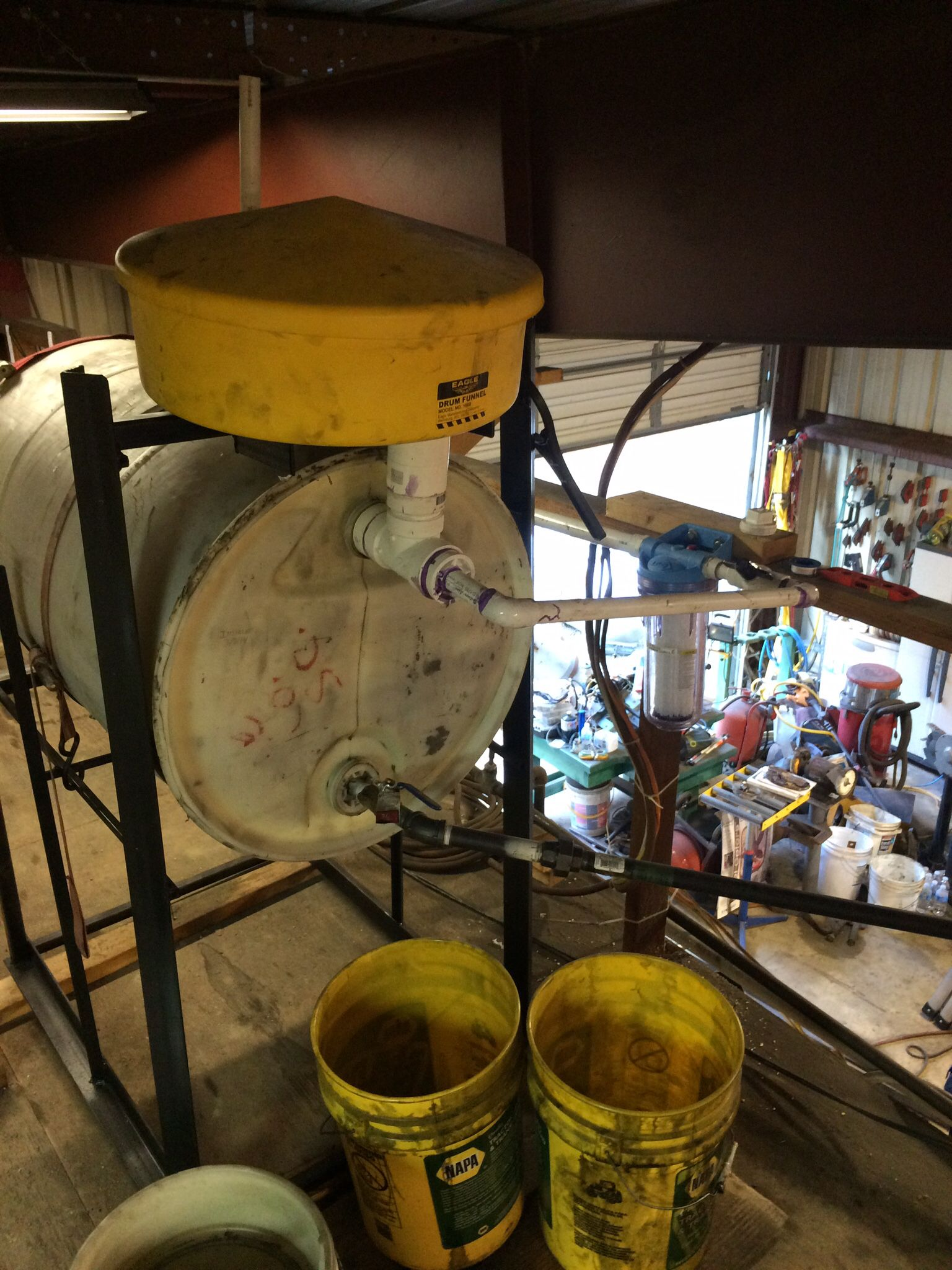 Waste Oil Fuel Tank Modified This Year With A Vent On