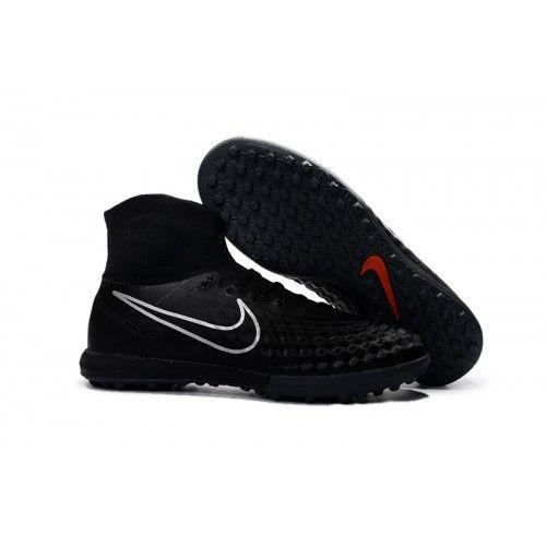 new products c7532 2eaa6 Botas De Futbol Sala Nike Magista Obra II TF Negro Plata