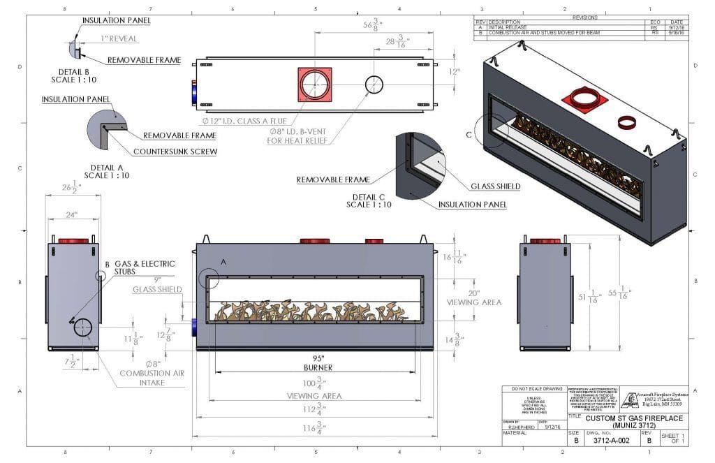 Custom Gas Linear Fireplace A Customer S Journey In 2020 Linear Fireplace Fireplace Drawing Gas Fireplace