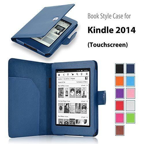 Onway Amazon Kindle 7th Generation 2014 Model 6 Inch E Reader Slim Fit Folio Premium Pu Leather Book Style Case Cov Case Cover Leather Books Case