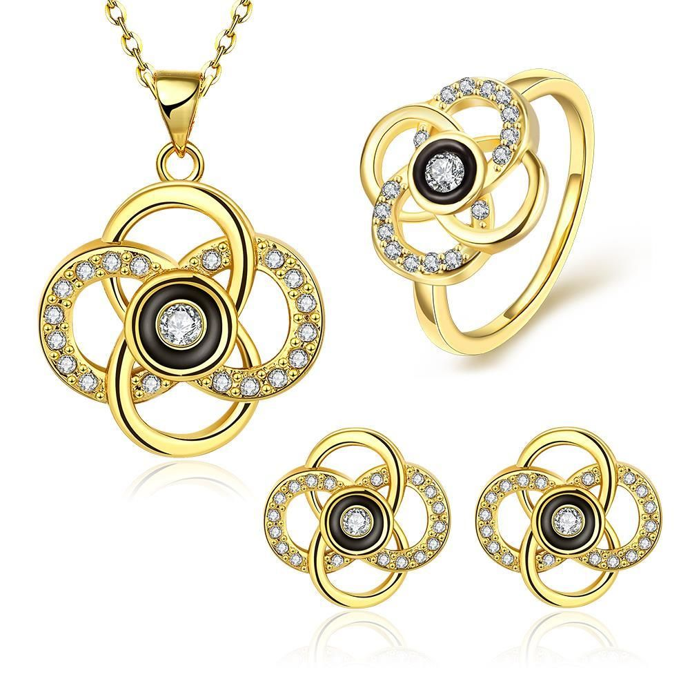 Sa fashion nickel and lead free mixed styles gold jewelry set
