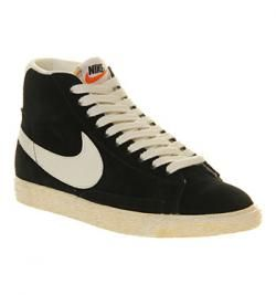 Nike Blazer Hi Suede Vintage BLACK WHITE  Dave Smith on WeShop