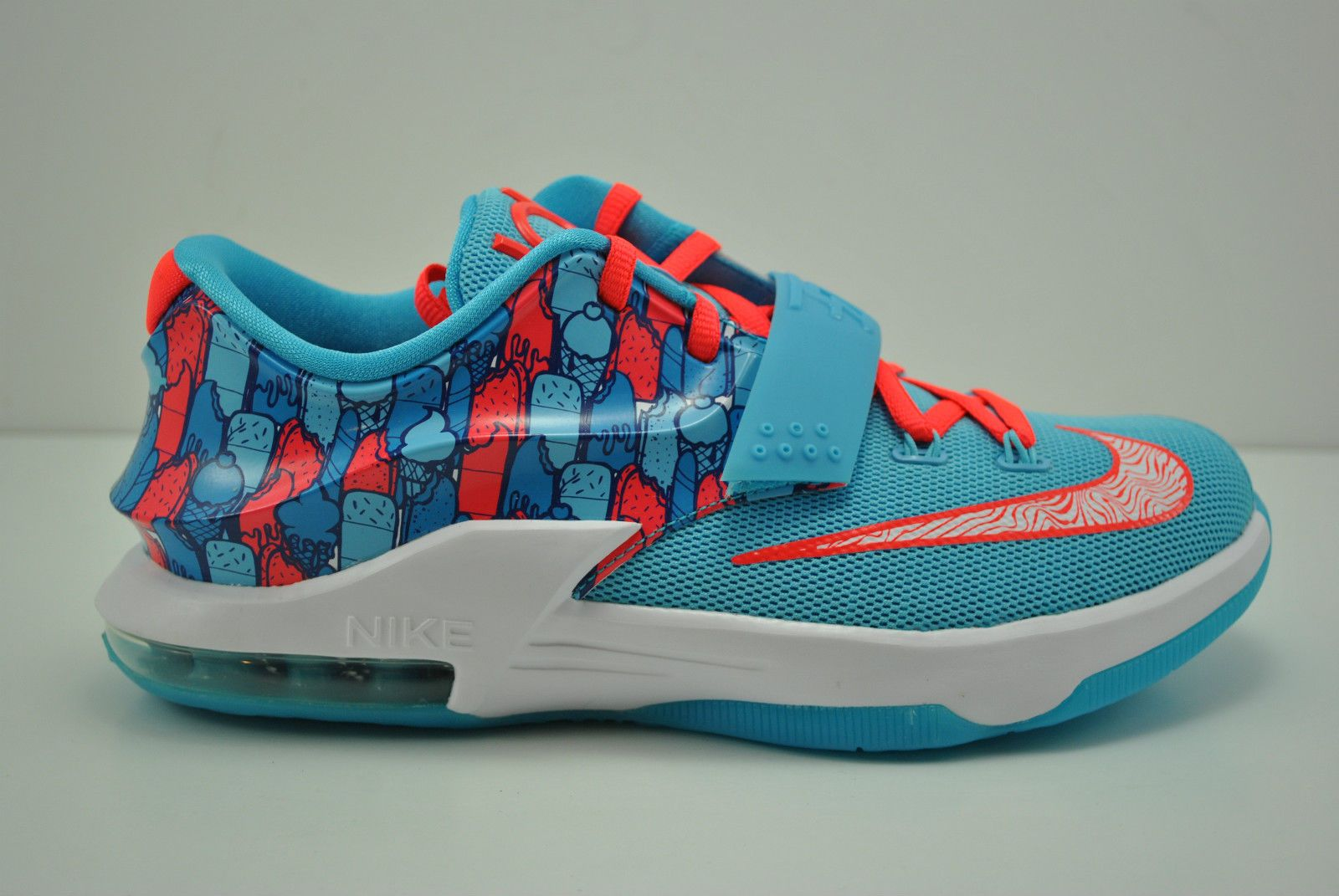23feab1c8d0a Nike KD VII 7 GS Basketball Shoes Size 6Y Frozen Ice Cream Durant 669942  401
