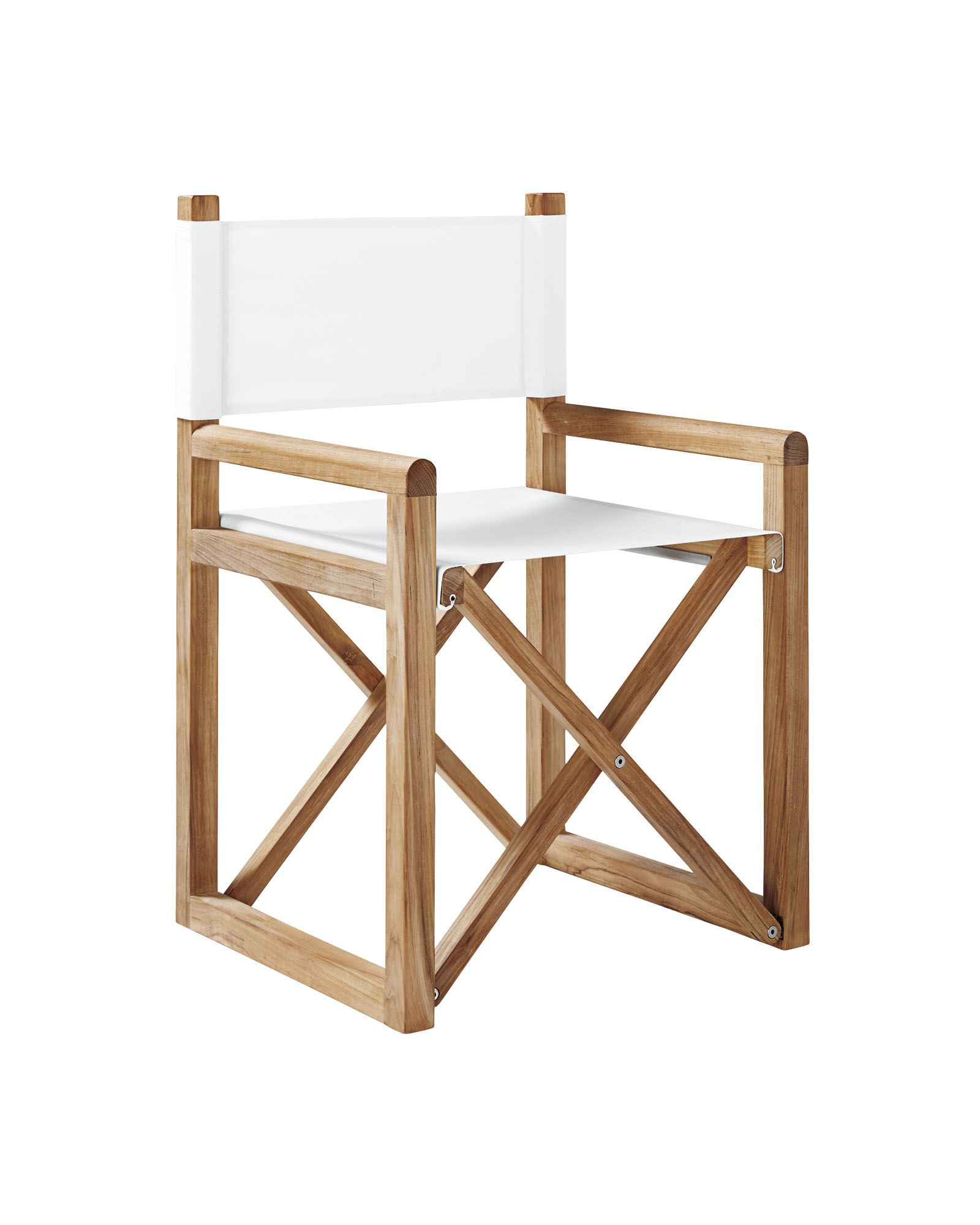 Director\'s Chair - Solid Canvas White | Home Goods | Pinterest ...