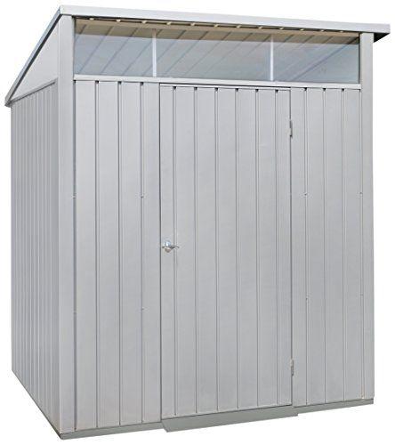duramax 41872 6 x 5 ft palladium metal shed silver