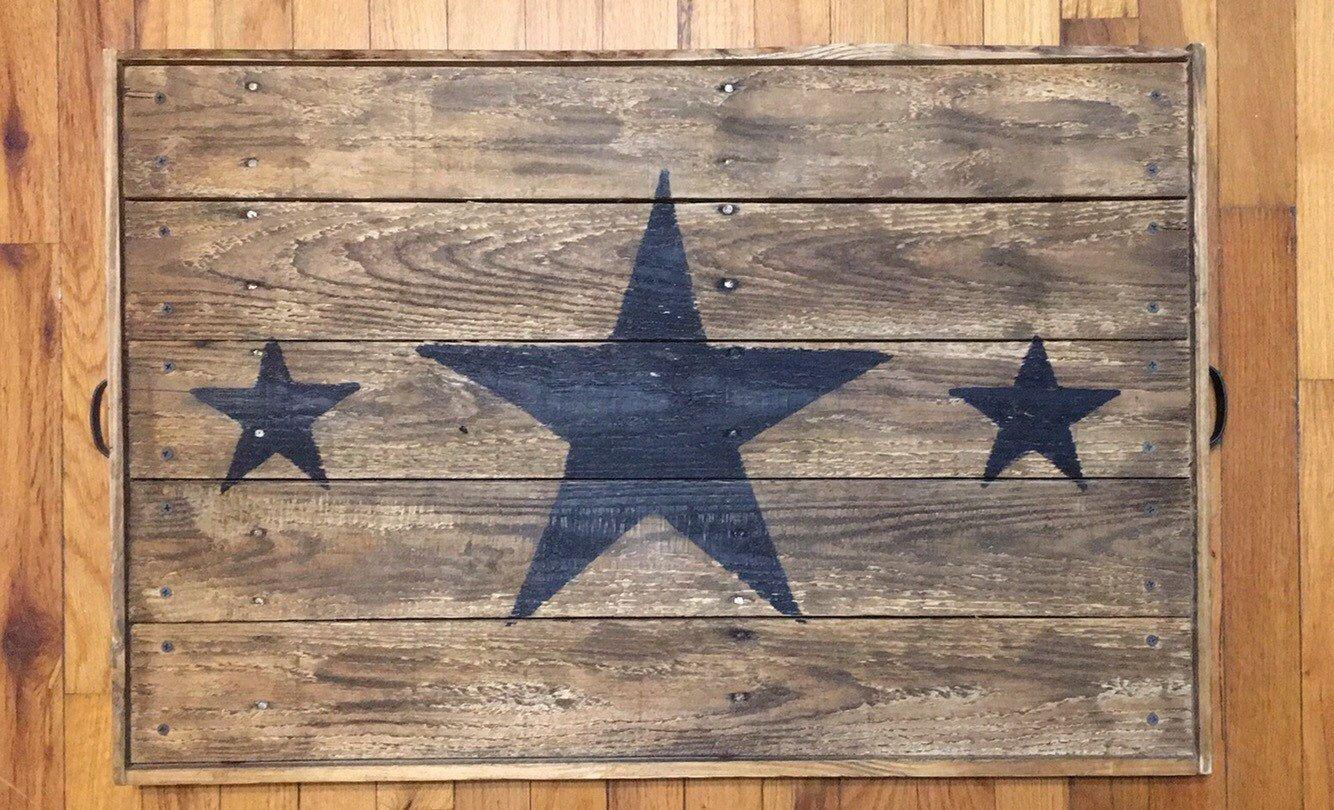 Bandeja estrellas plataforma reciclada con por StaceyTsTreasures