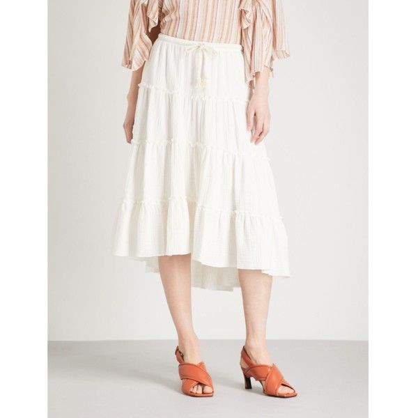 Chloé tiered midi skirt Free Shipping Low Price Cheap Sale Brand New Unisex Sale Online Shop Fast Express Clearance Find Great iS7IFjl