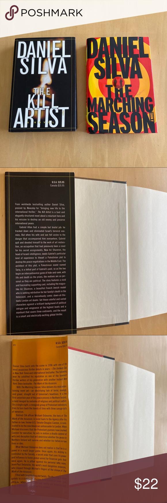 Daniel Silva (2) Hardcover Books The Kill Artist The
