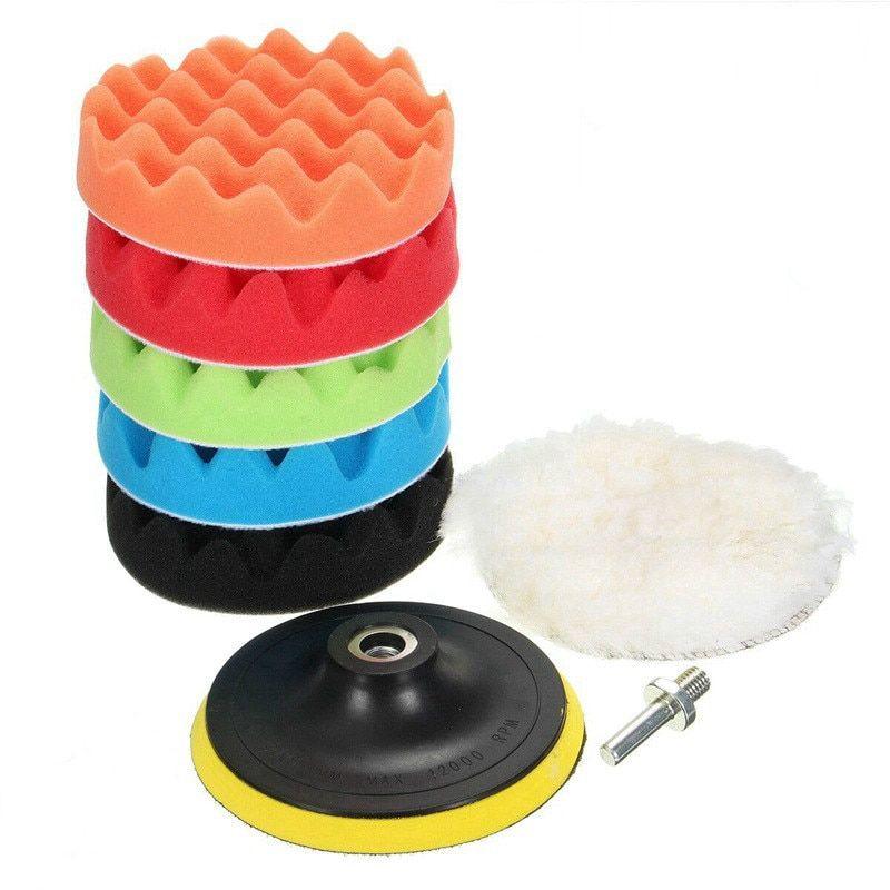 4 Pcs//Set Buffing Sponge Polishing Pad Kit Set For Car Polisher Tool New