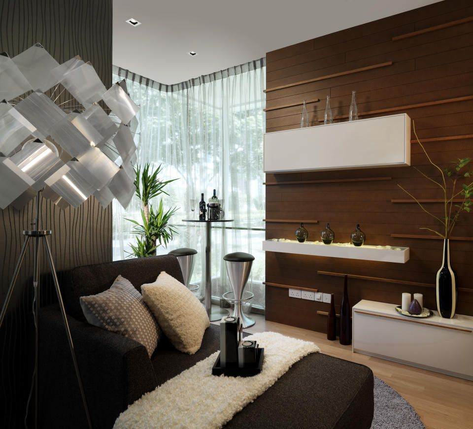 Modern Contemporary Interior Design single man living room design #malelivingspace