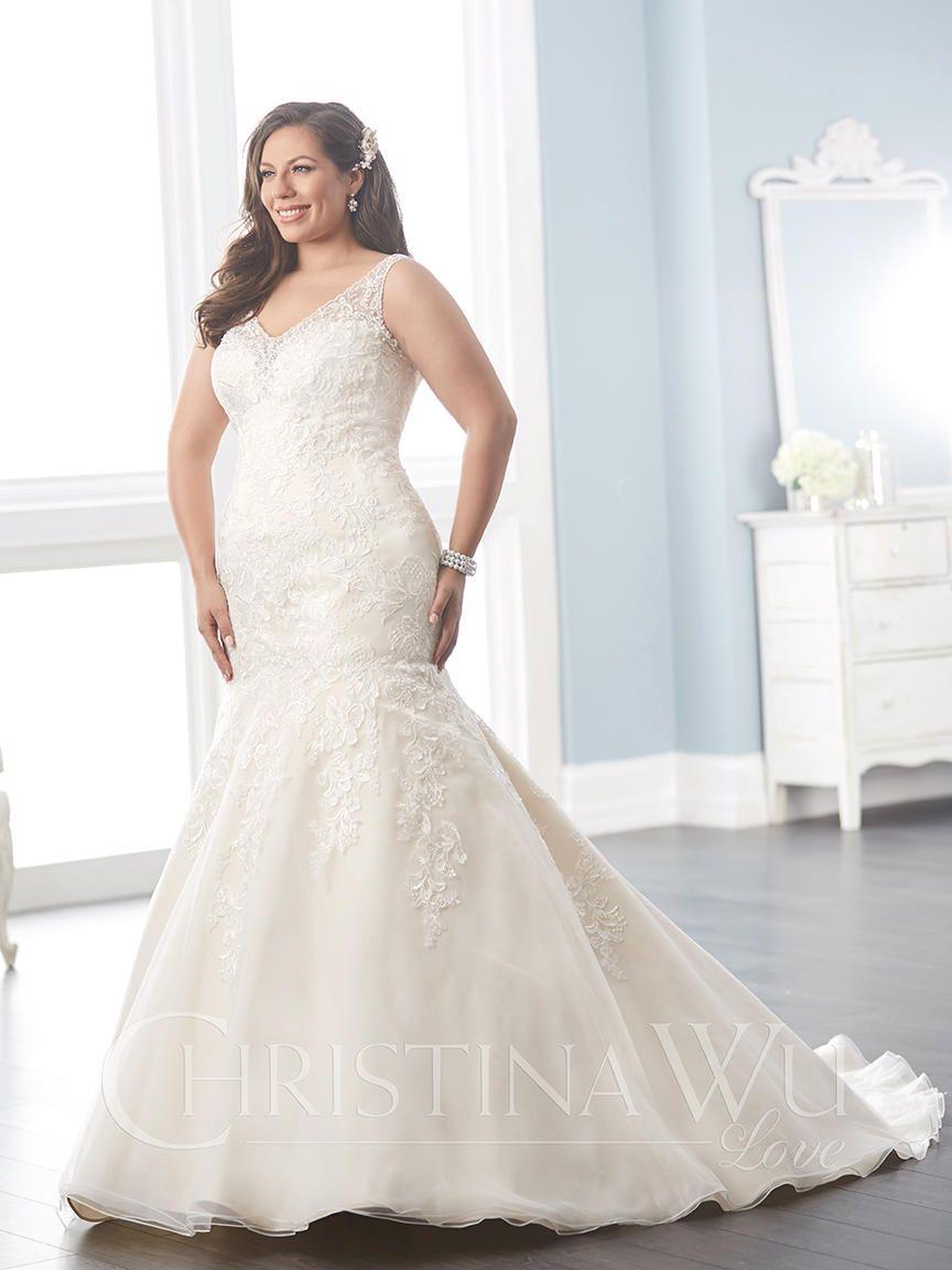 Christina Wu 29289 Size 22 Ivory Over Champagne Unworn Sample 850 Plussiz Wedding Dresses Beaded Wedding Dresses Mermaid Trumpet Mermaid Wedding Dress [ 1152 x 864 Pixel ]
