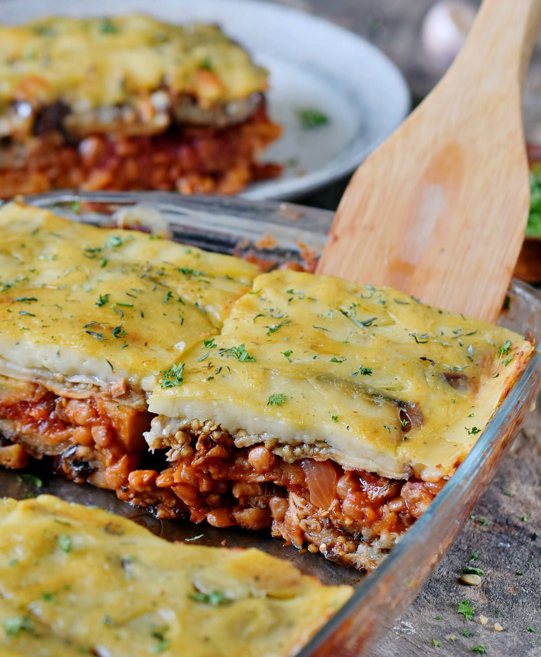 Vegan Moussaka With Lentils Healthy Gluten Free Recipe Elavegan Vegan Casserole Recipes Vegan Moussaka Healthy Vegan Snacks