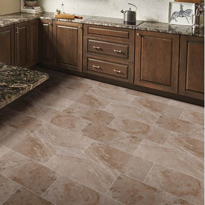 Msi 12 X 24 Ceramic Field Tile In Napa Noce Kitchen Floor Tile Patterns Beige Tile Kitchen Floor Brown Kitchen Tiles