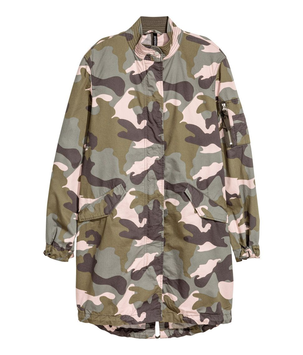 bb2f8ce2a9358 Camo Parka | H&M Divided | H&M DIVIDED GIRLS | Fashion, Jackets ...