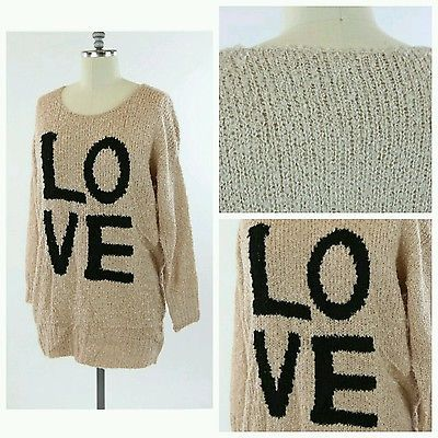 New Dusty Rose Womens Size 1X Plus Crewneck Thick Knit Sweater Love Fall Warm