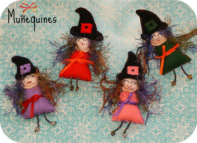 Broches brujitas / Brujas broches