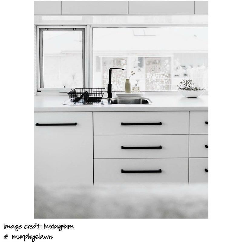 Black Cabinet Handle By Meir White Kitchen Handles Black