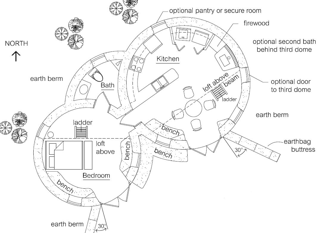 Spiral 2 Earthbag House House plans Bags and Hobbit