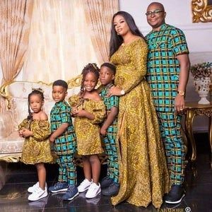 African family outfit, matching African family out