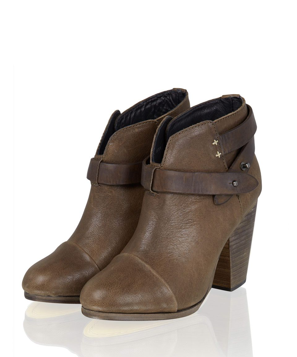 Rag and Bone Brown Harrow Leather Ankle Boots