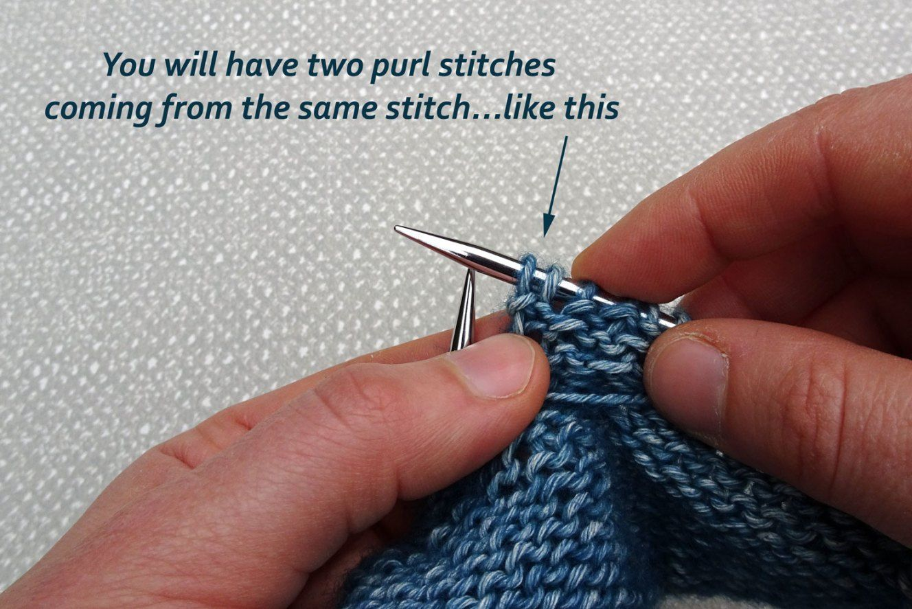 How to Knit front and Back (KfB) and Purl Front and Back