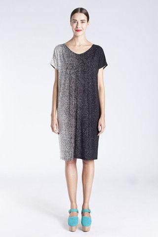 Marimekko Varhain Jersey Dress Black/Off-White   Kiitos Marimekko