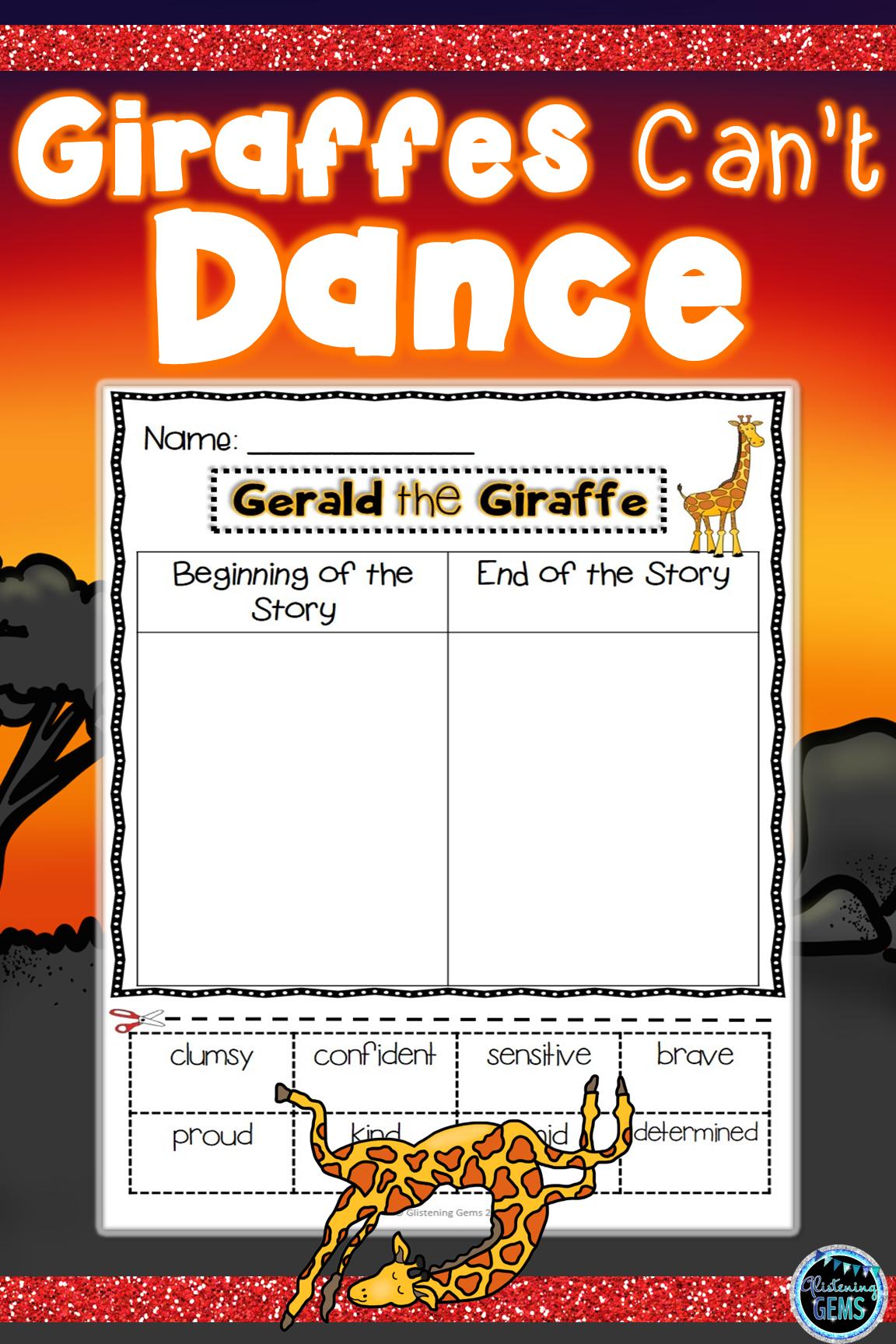 Giraffes Can T Dance Character Traits Sorting