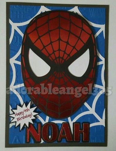 Spiderman Birthday Card Cricut Card Diy Card My Crafty Creations