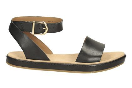 4509e0f2667c6 Womens Casual Sandals - Romantic Moon in Black Leather from Clarks shoes