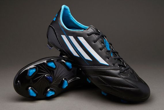 adidas F50 adiZero TRX FG Leather - Black White Blue UK 9  pdsmostwanted fa90df331709a