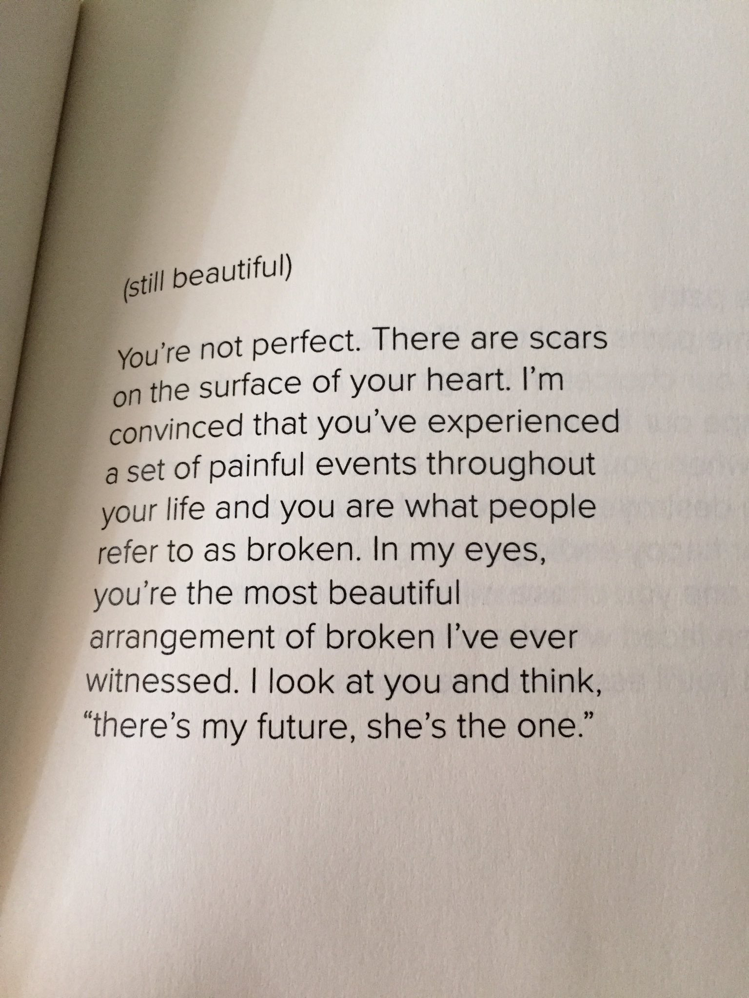 Not because you are the most beautiful of all, but because you don't need light 89