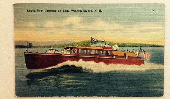postcards winnepasaukee Vintage lake