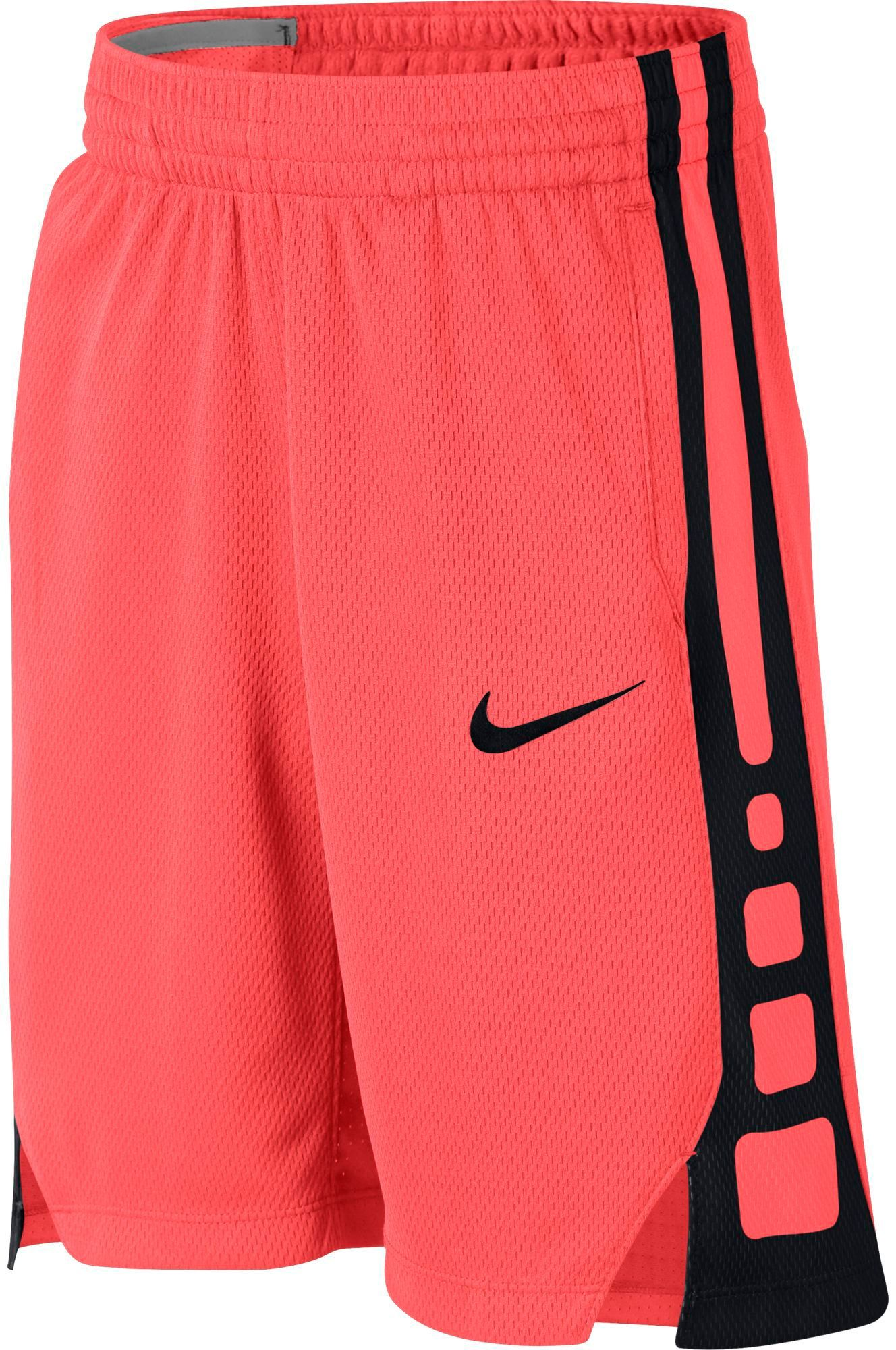 Nike Boys Dry Elite Stripe Basketball Shorts Size Xs Hot Punch Black Basketball Clothes Girls Basketball Clothes Basketball Shorts