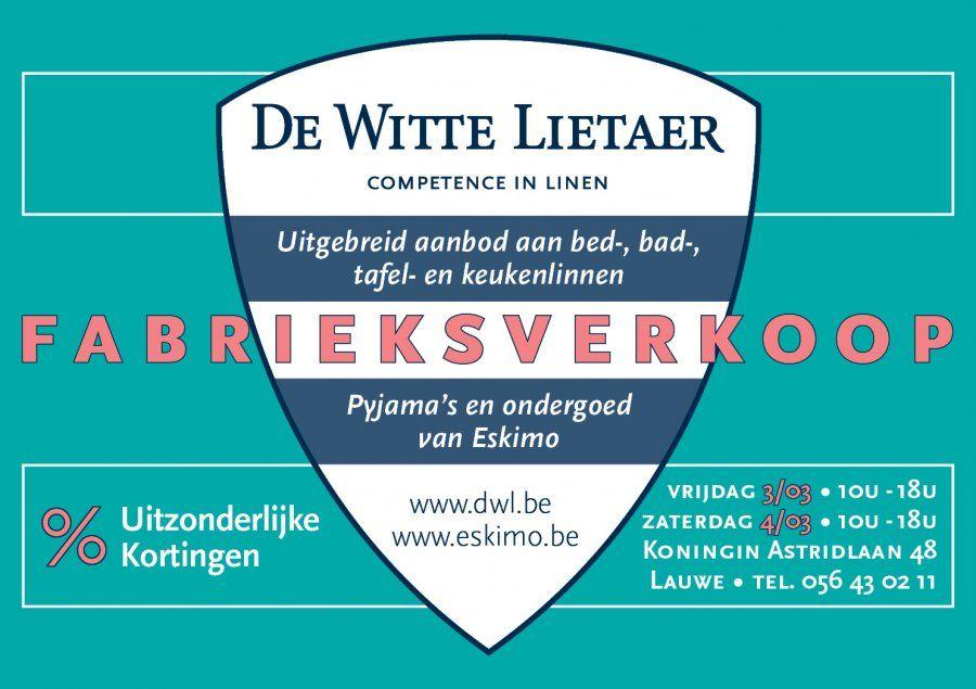 Fabrieksverkoop van De Witte Lietaer -- Lauwe -- 03/03-04/03