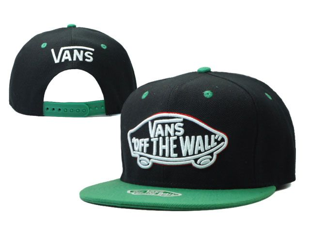 f5f7febc VANS Snapback Hats OFF THE Wall Hats Black/Green 026 | Cheap ...