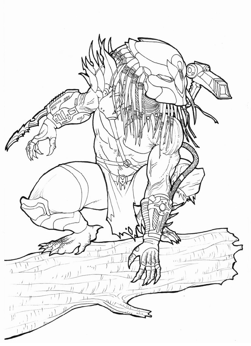 Alien Vs Predator Coloring Pages Coloring Pages Mermaid Coloring Pages Halloween Coloring Pages