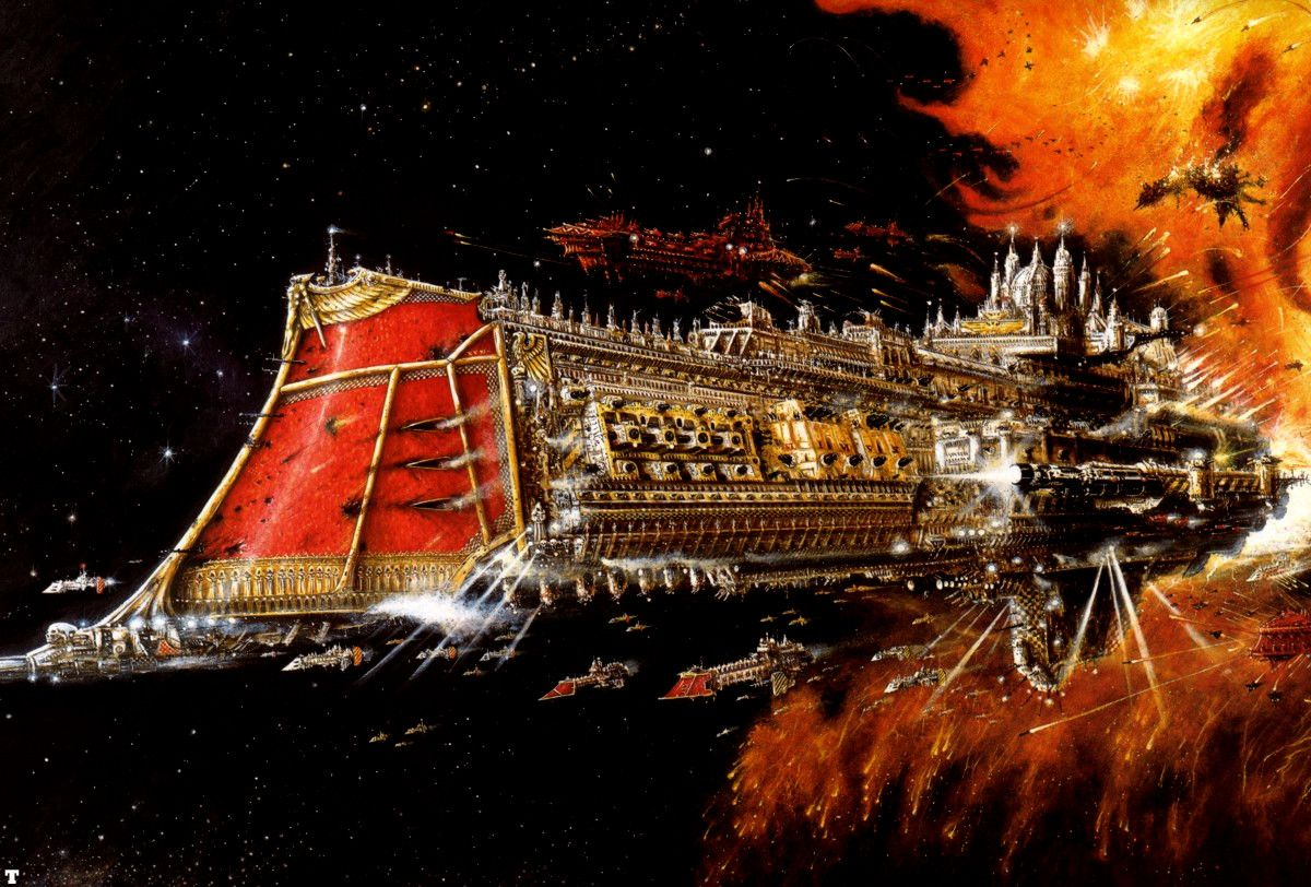This Is Another Battlefleet Gothic Armada Multiplayer Battle I Use My Imperial Navy Dictator Class Cruiser In Fight