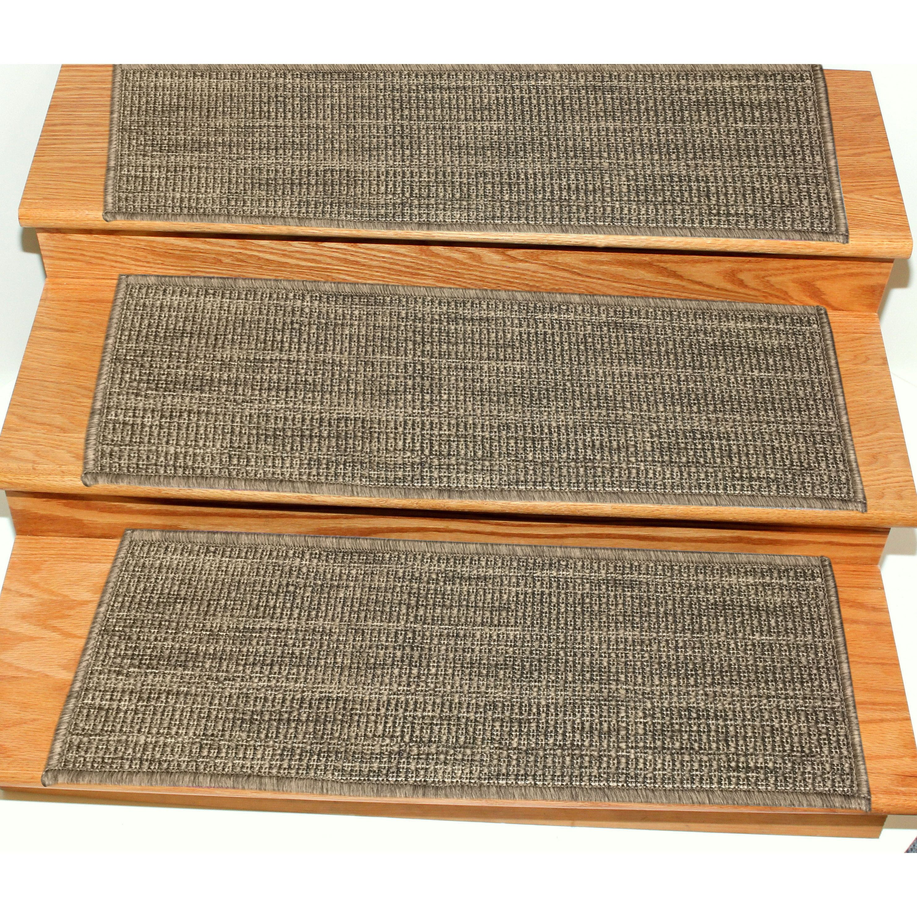 Ottomanson Jardin Collection Jute Back Indoor Outdoor Carpet Stair | Indoor Outdoor Carpet Stair Treads | Rug | 26 Inch | Ottomanson Jardin | Walmart | Anti Slip Stair