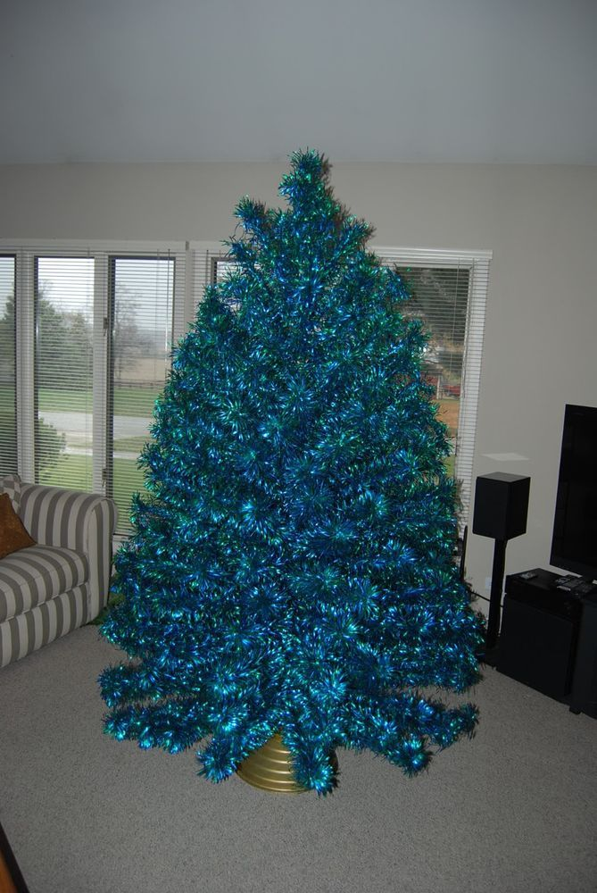 Blue Green 7 1 2 Ft Aluminum Christmas Tree Fake Trees Pink