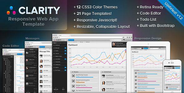 Clarity Responsive Web App Admin Template ThemeForest