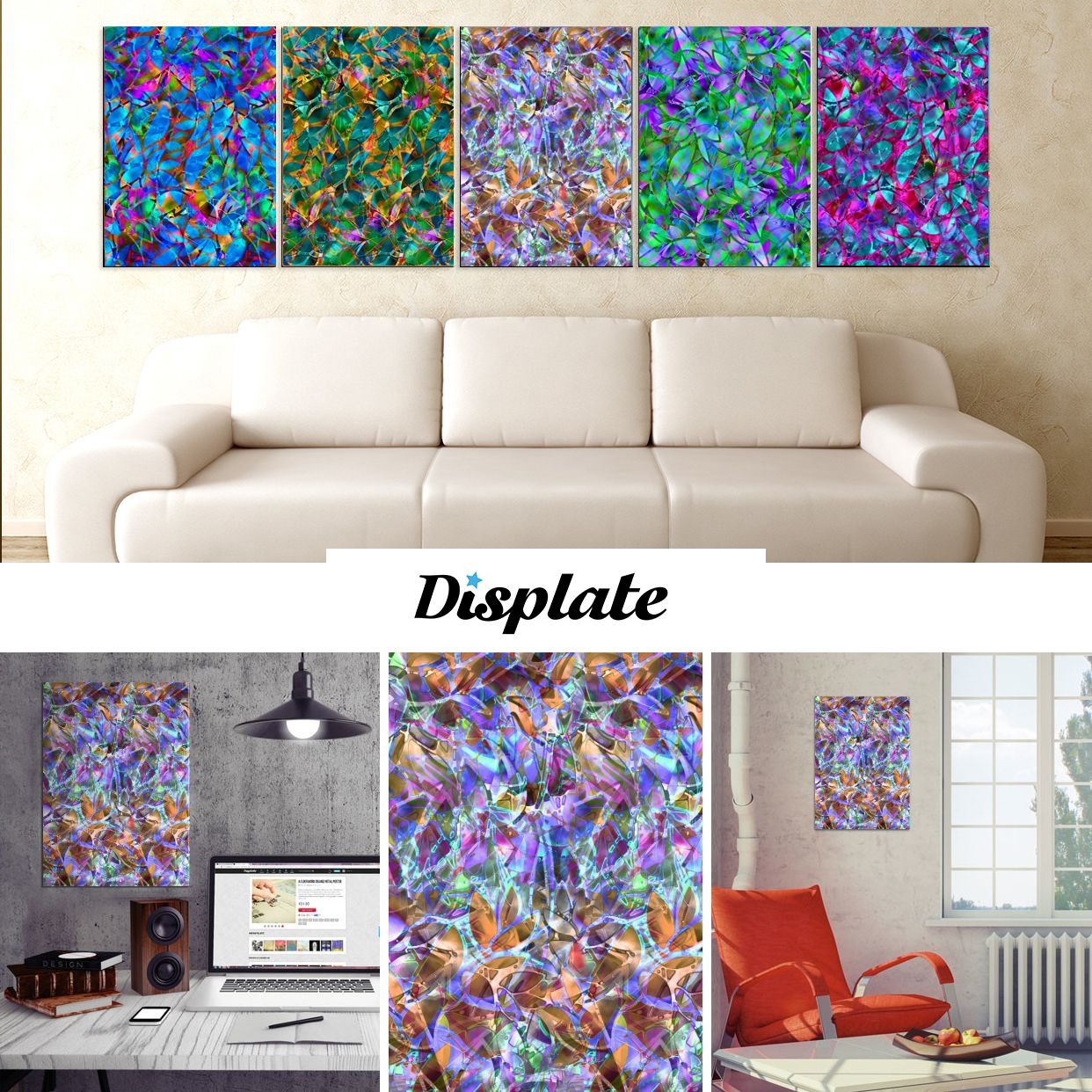 SOLD FLORAL STAINED GLASS G44! http://displate.com/medusa81 #Displate #Poster #metal #MadeOutOfMetal #lilac #gold #turquoise #abstract #floral #stainedglass #glass #Graphic #medusagraphicart #medusa81 #artist #medusart #artwork #colorful #colors