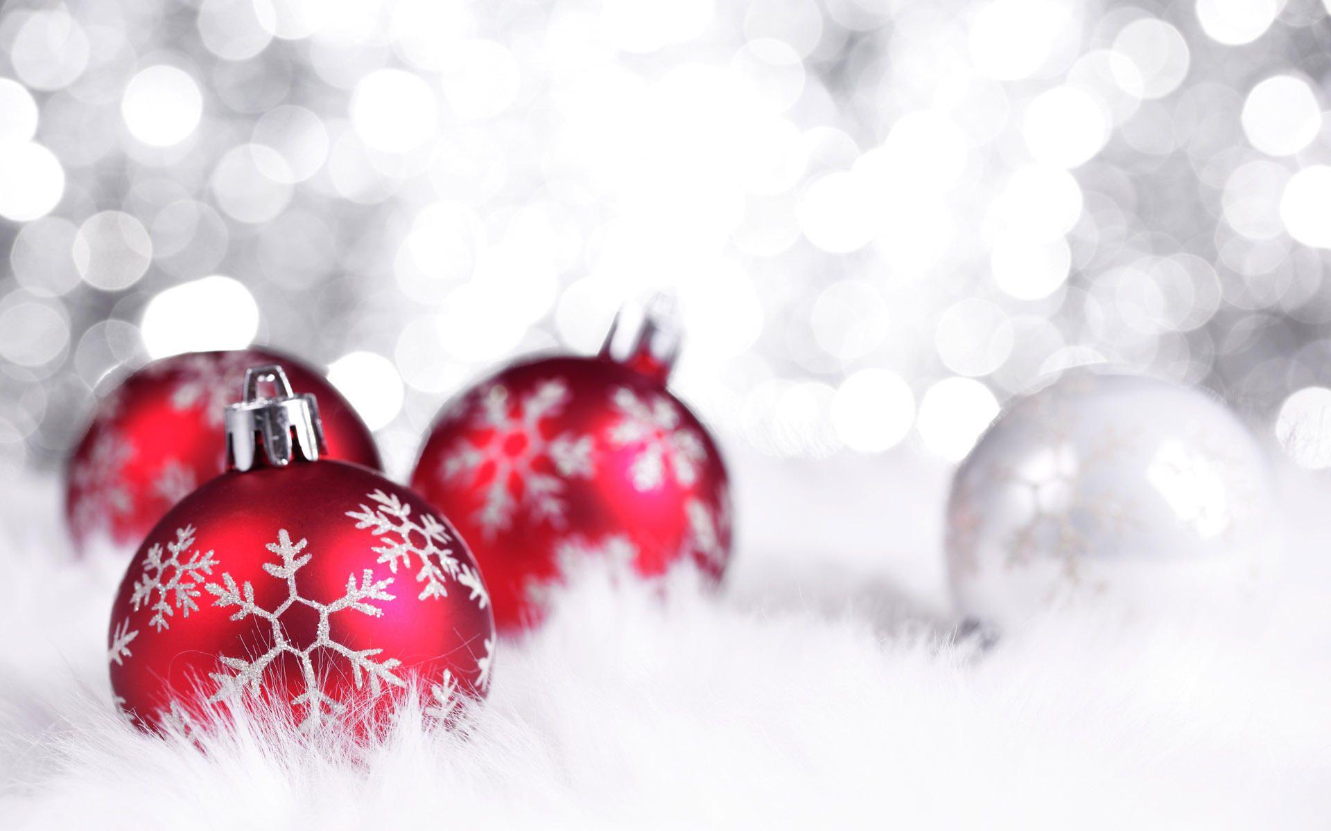 Christmas Red Christmas Ornaments Christmas Wallpaper Hd Xmas Wallpaper