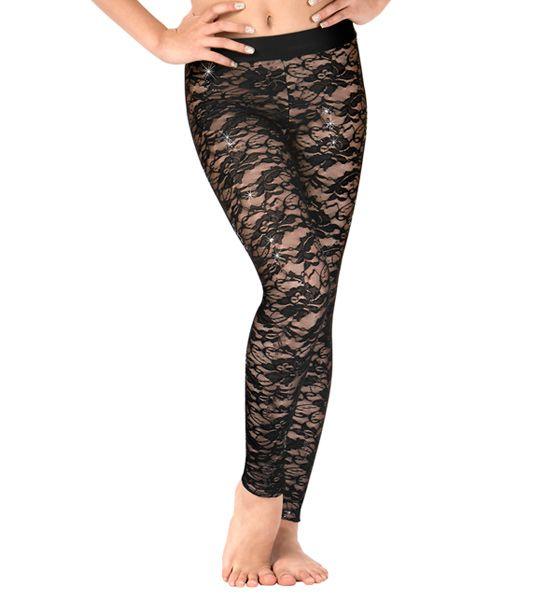 96c83004472d8 Girls Floral Lace Dance Leggings   Dance Costumes   Dance leggings ...