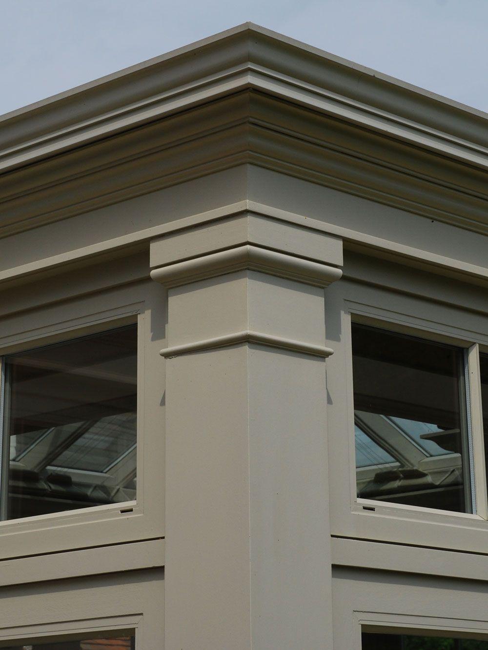 Detail Of A Corner Pilaster Capital Bungalow House Design Classic House Exterior House Balcony Design