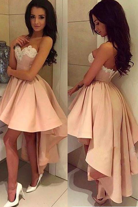 b650141cefd Front Short Long Back Blush Pink Charming Homecoming Dresses Prom ...