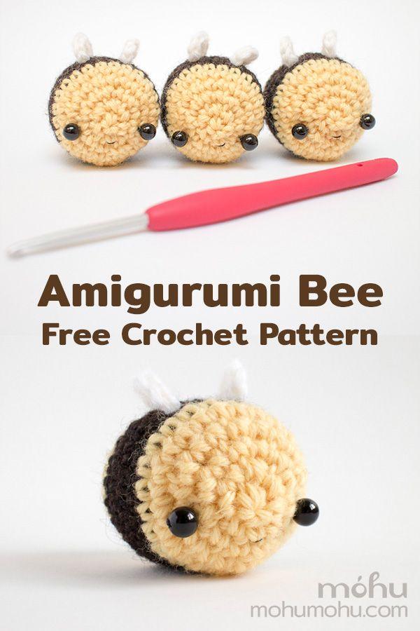 Amigurumi Bee – Free Crochet Pattern and Tutorial for Mini Bumble Bee