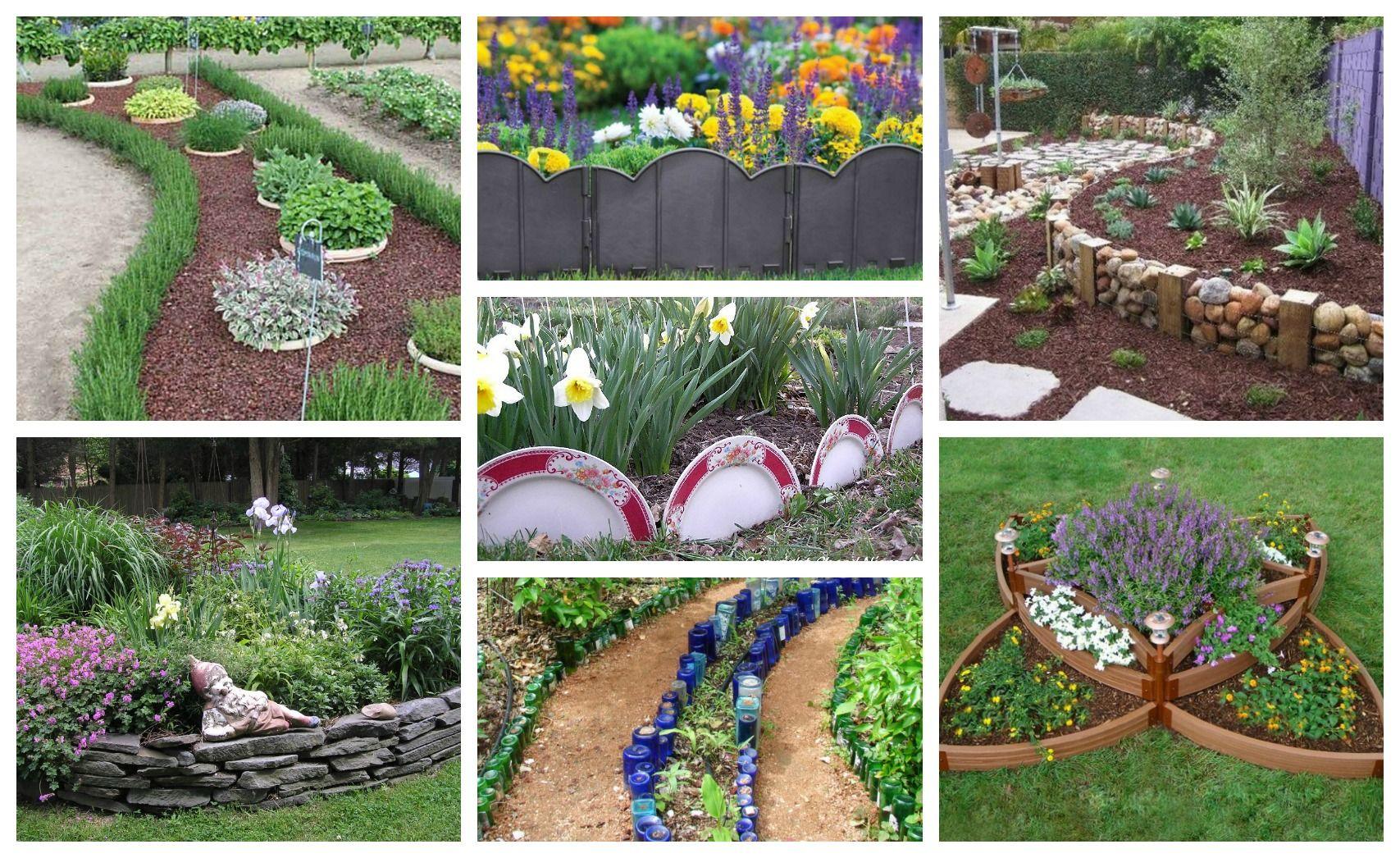 Borduri Decorative Pentru Gradini Si Ronduri Cu Flori 12 Idei Diy Garden Diy Garden Bed Garden Boxes Diy
