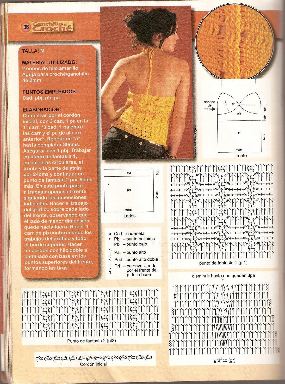 Top Cordon al Cuello Crochet Patron - Patrones Crochet | TOPS DE MI ...