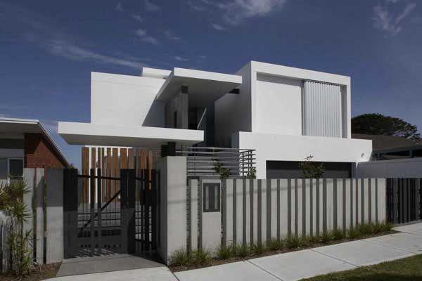 House · Contemporary Fence Designs ...